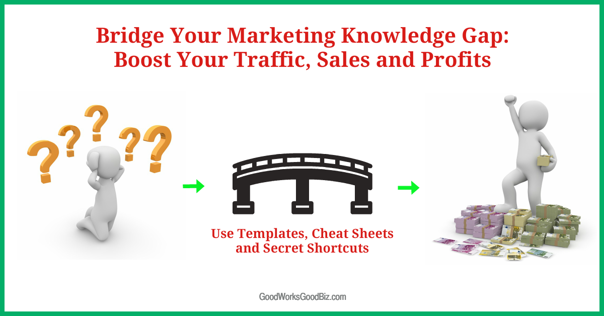 Bridge Your Marketing Knowledge Gap: Boost Your Traffic, Sales and Profits