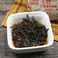 "Three Cranes Sanhe 2014 ""0207"" Liu Bao Tea Cake Dark Tea Heicha 100g from tealife2015_us"