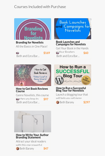 Marketing Bundle for Novelists 5 Courses in One for Novelists!