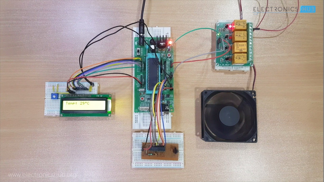 Temperature Controlled Fan Using 8051 Electronics Hub Courses Microcontroller Projects For Engineering Students About This Course It Is Designed Anyone Who Are Interested In Developing Based Will Introduce The Hardware And