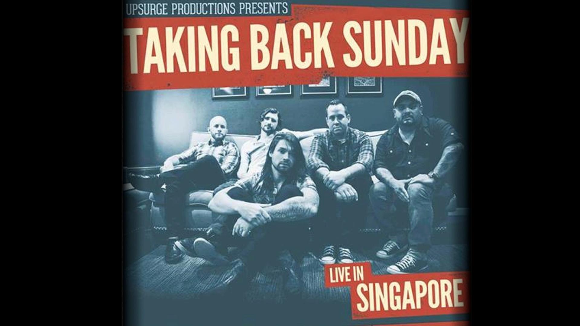 Taking Back Sunday Live In SG