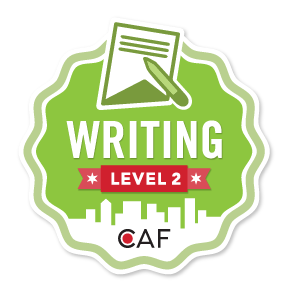 Badge for Writing - Level 2