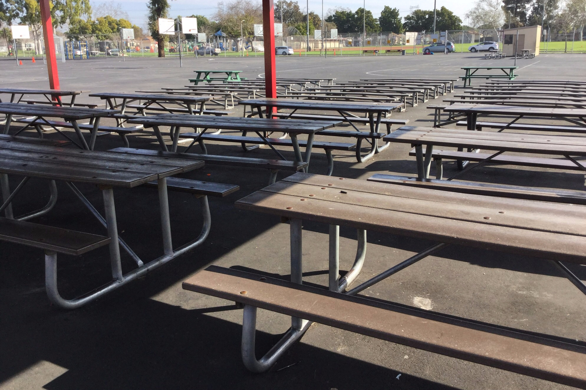 Outdoor school lunch table - Lunch Benches
