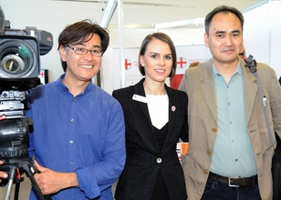 NHK's team with MIM director Ilona Dalecka
